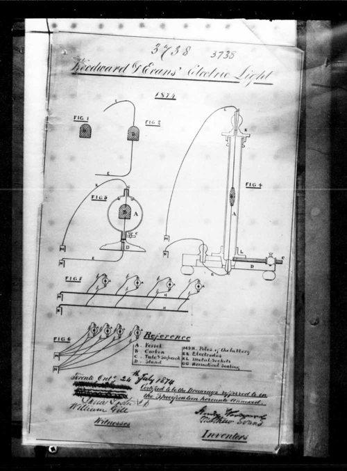 На фото: чертеж из патента Вудварда и Эванса 1874 года.